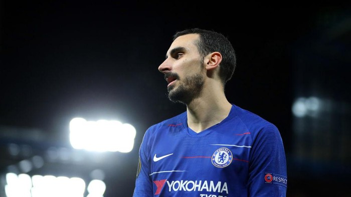 LONDON, ENGLAND - MARCH 07: Davide Zappacosta of Chelsea  during the UEFA Europa League Round of 16 First Leg match between Chelsea and Dynamo Kyiv at Stamford Bridge on March 07, 2019 in London, England. (Photo by Catherine Ivill/Getty Images)