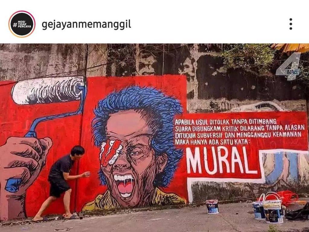 Menentang Penghapusan Mural, Gejayan Memanggil Bikin #LombaDibungkam