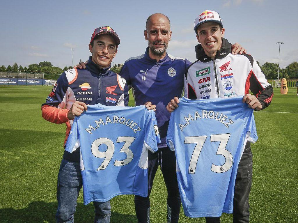 Jelang MotoGP Inggris: Marquez Bersaudara Sambangi Markas Man City