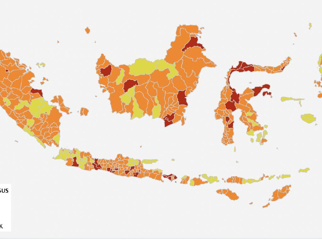 Zona Merah COVID-19, Bali Tidak Berkurang, Aceh Malah Bertambah