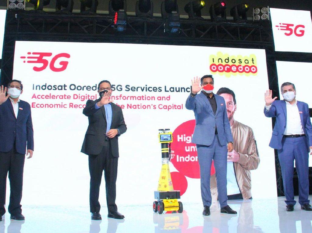 Disaksikan Anies Baswedan, Jaringan 5G Indosat Resmi Hadir di Jakarta