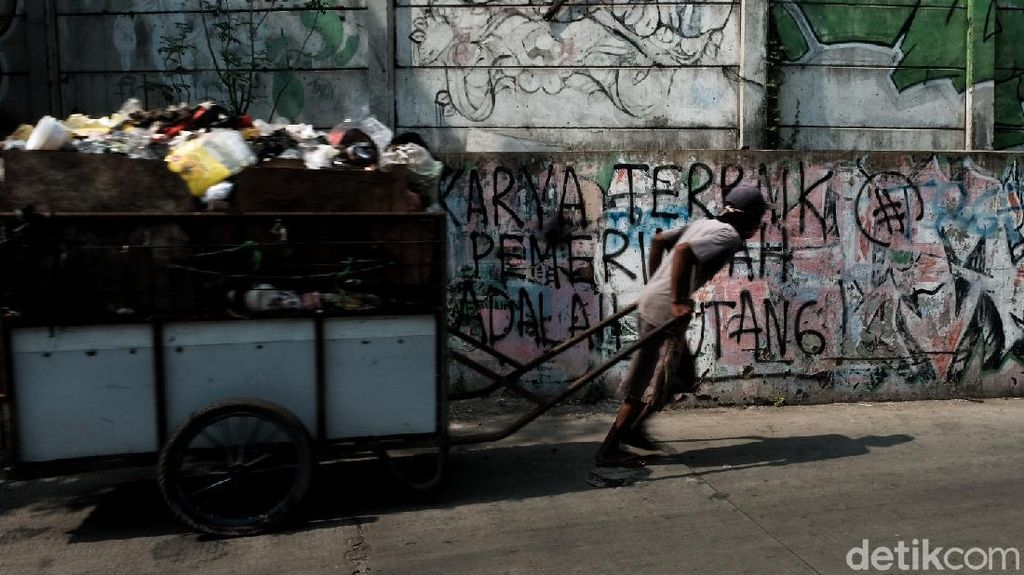 Mural Kritik Hutang Pemerintah Mejeng di Jakbar