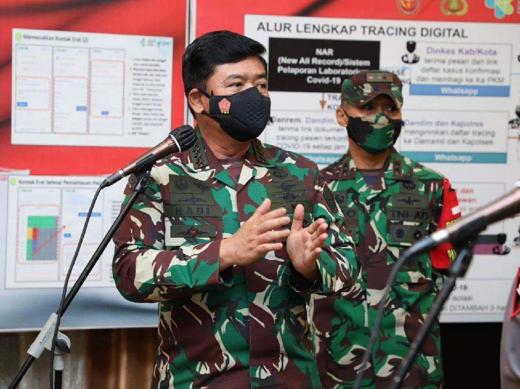 Panglima TNI Minta Tracing Kontak Erat Pasien Corona di Papua Diperbaiki