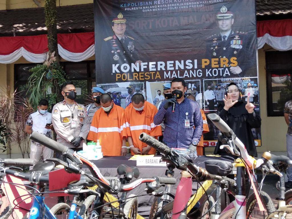 Marak Pencurian Sepeda Saat Pandemi, 2 Residivis 30 TKP di Malang Ditangkap
