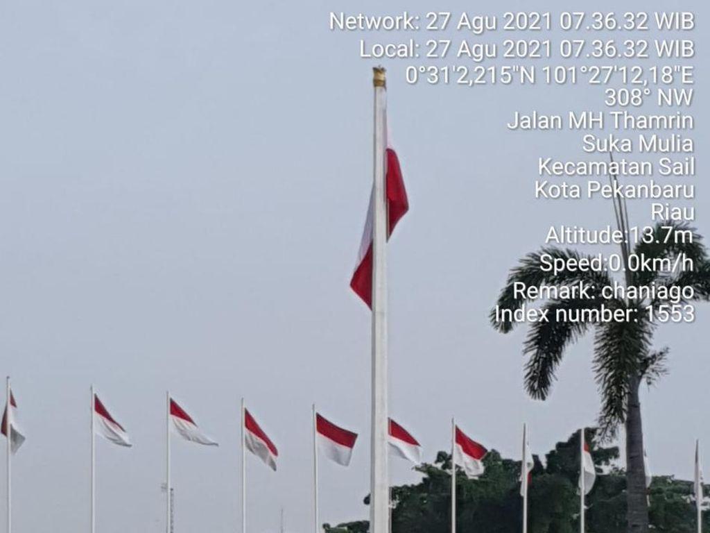 Petugas yang Pasang Merah Putih Terbalik di Rumdin Gubernur Riau Disanksi