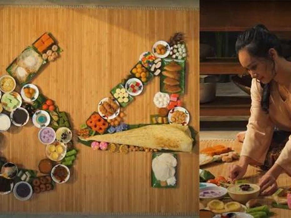 Keren! 64 Hidangan Manis Tradisional Malaysia Dipakai untuk Buat Karya Seni