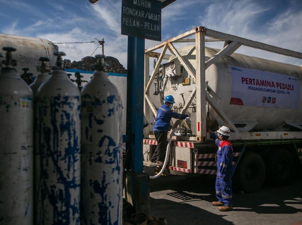 Pertamina Sudah Distribusikan 4.855 Ton Oksigen di 504 Rumah Sakit