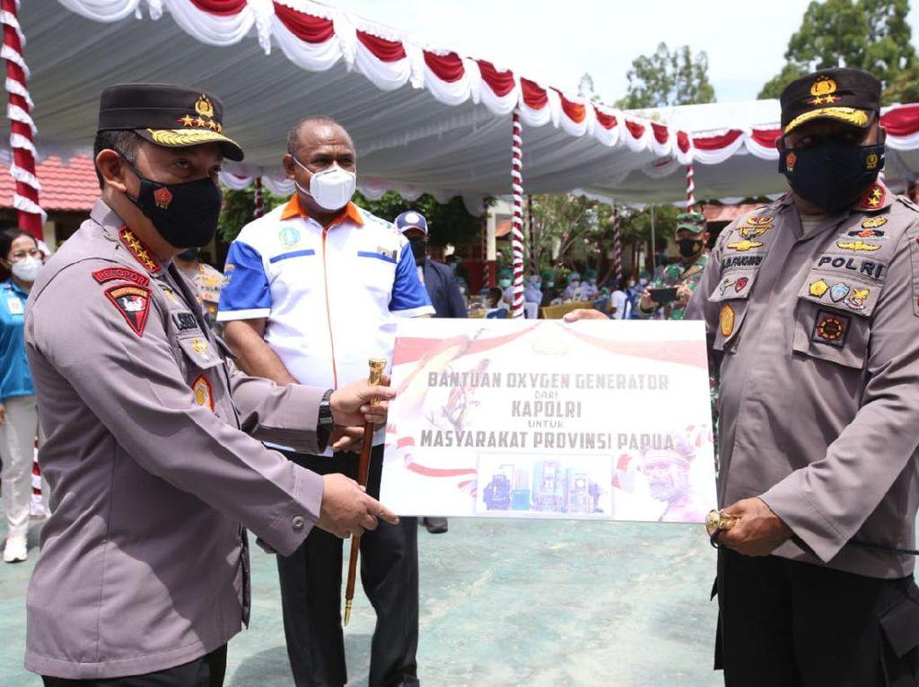 Bantu Penanganan COVID-19 di Papua, Kapolri Sumbang Oksigen Generator