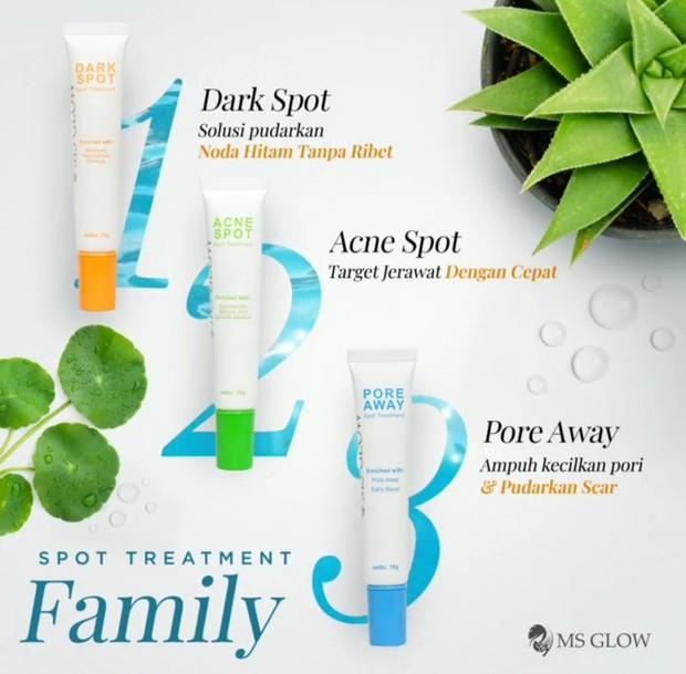 Produk MS Glow untuk kulit mulus
