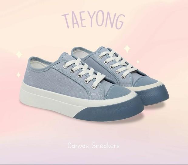 Taeyong Classic Canvas Sneakers / foto : instagram.com/pvnshoes