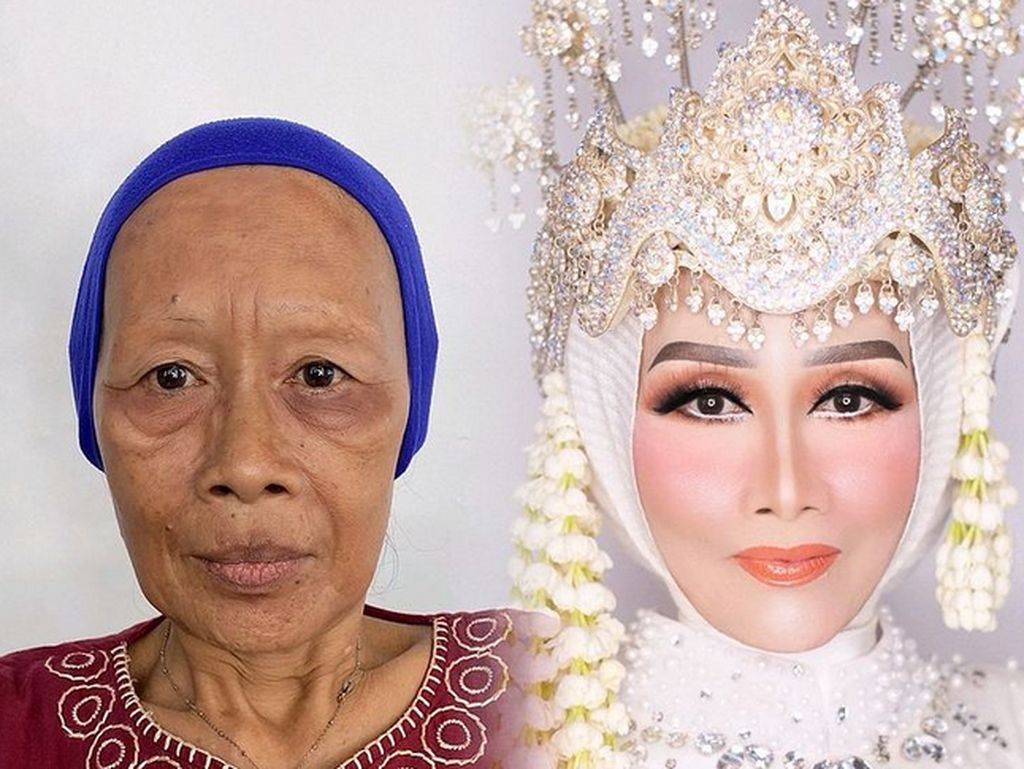 Makeup Artist Bikin Wajah Nenek Berkerut Jadi Muda Lagi, Ditarik Pakai Lakban