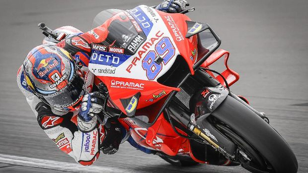 Jorge Martin di Kualifikasi MotoGP Inggris 2021.