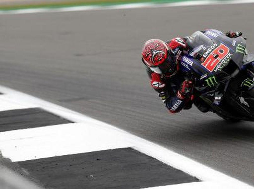 Quartararo Juara MotoGP Inggris, Marquez Crash