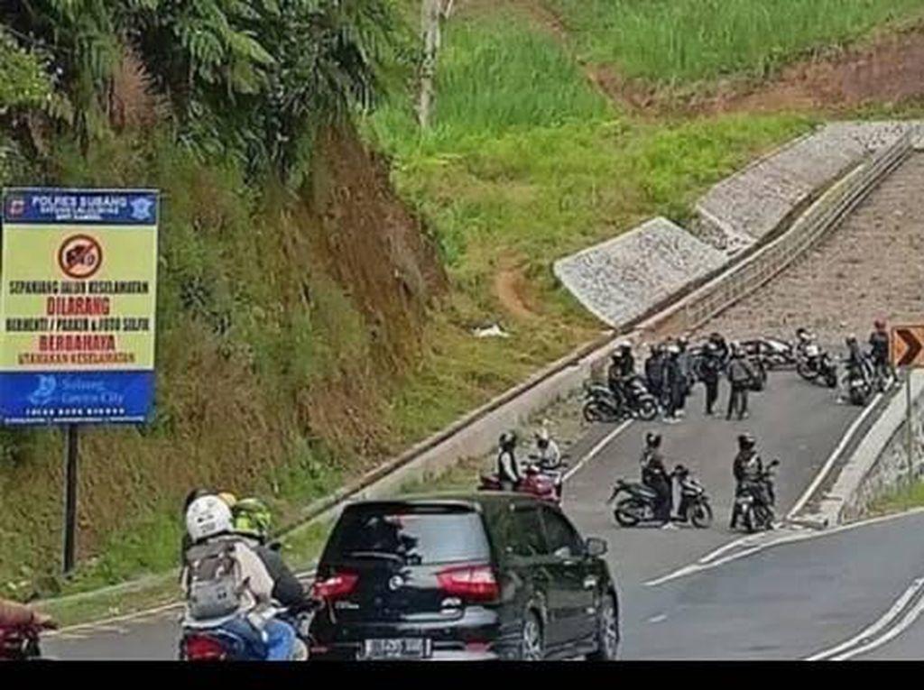 Viral Rombongan Bikers Kopdar di Jalur Penyelamat, Polisi Bertindak