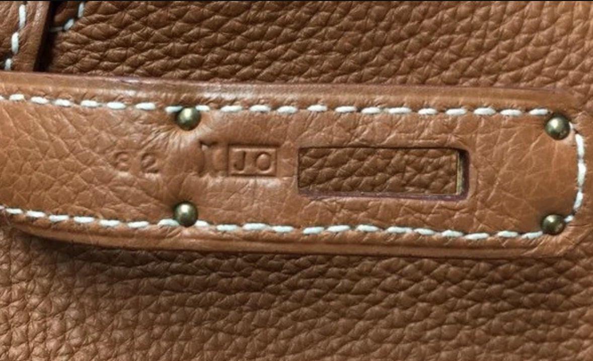 Blind stamp tas Hermès