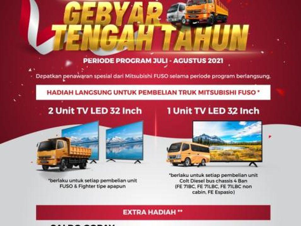 Beli Mitsubishi Fuso Bisa Dapat TV LED 32 Inci, Begini Caranya!