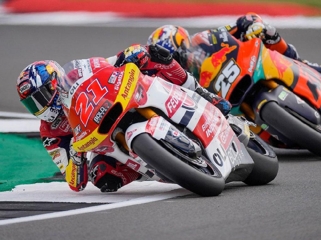 Hasil Tim Indonesia di Moto2 Inggris: Diggia Tembus 5 Besar
