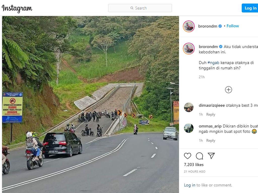 Ngawur Banget! Rombongan Bikers Ini Kopdar di Jalur Penyelamat