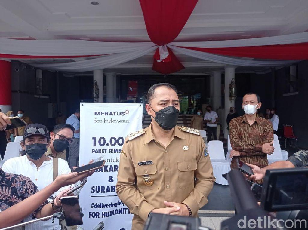 Tak Ada RT Zona Merah, Walkot Eri Optimis Surabaya Menuju Zona Kuning