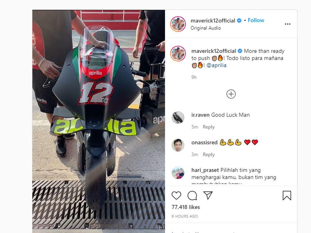Vinales Langsung Move On dari Yamaha, Pamer Tunggangan Anyar Aprilia
