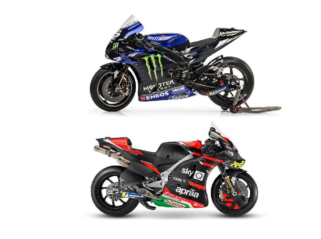 Adu Spek Motor MotoGP Tunggangan Vinales Musim Ini:  Aprilia RS-GP Vs Yamaha YZR-M1