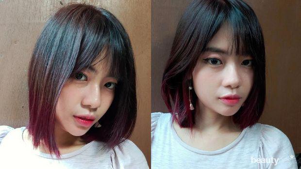 Foto setelah rambut diwarnai