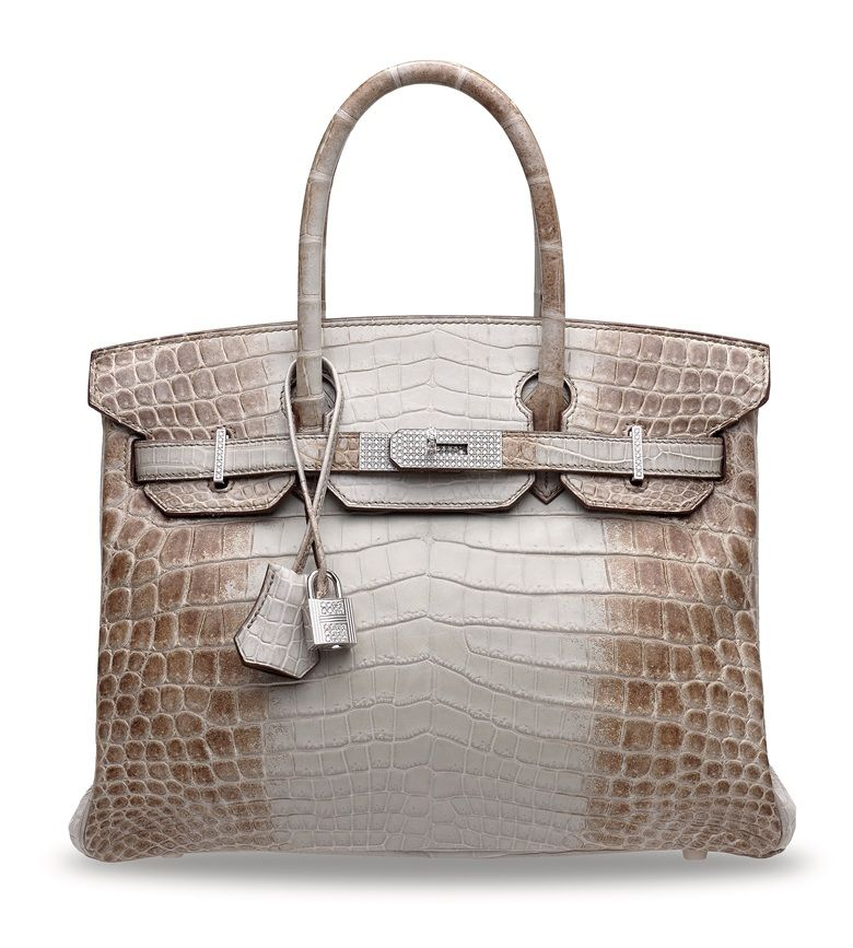 Hermès Niloticus Crocodile Himalaya Birkin Bag