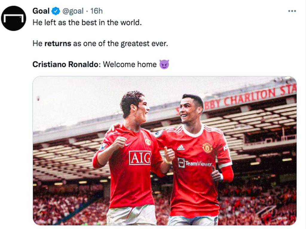 Ronaldo Resmi Berseragam MU Hebohkan Netizen