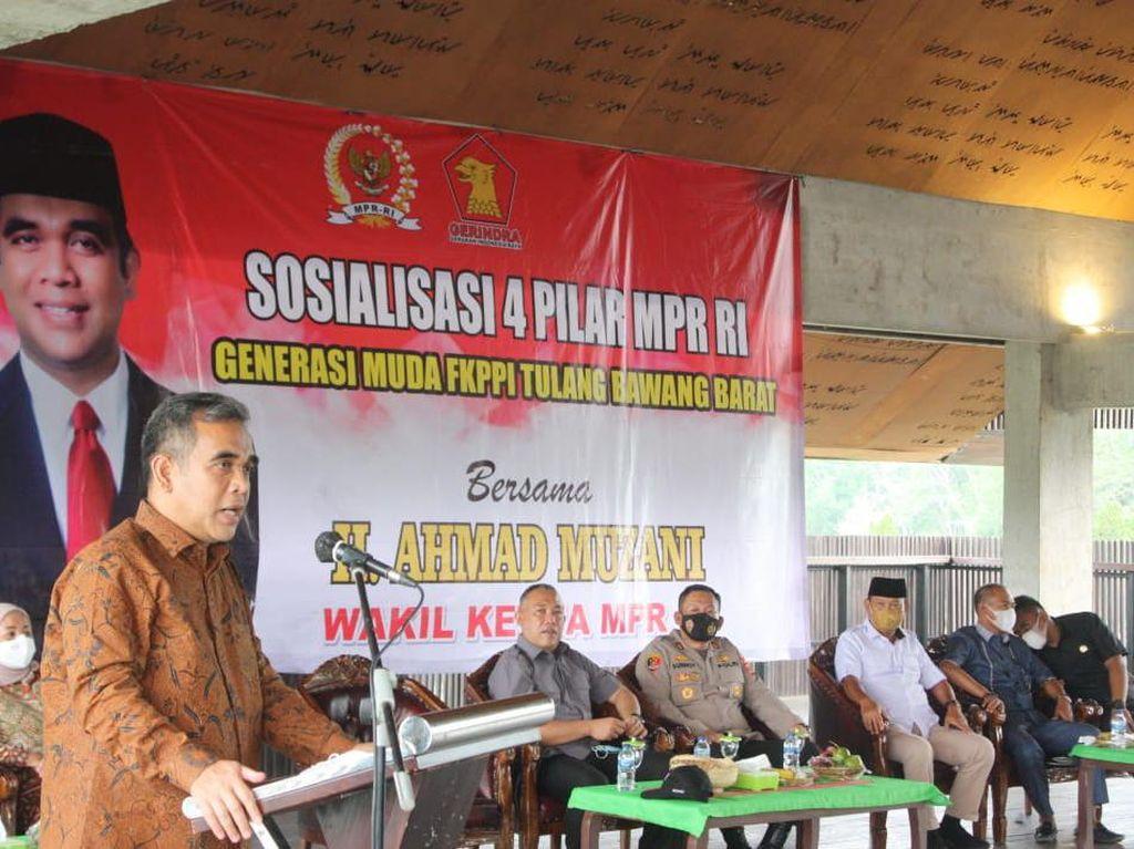 Di Lampung, Pimpinan MPR Muzani Bicara Pentingnya 4 Pilar Kebangsaan