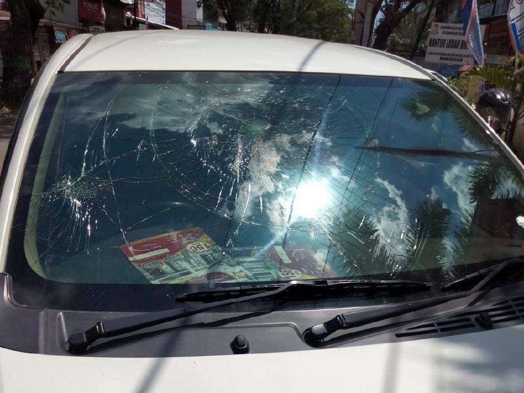 Polisi: Pelaku Perusakan Mobil di Makassar 1 Orang, Bukan Famili Almarhum