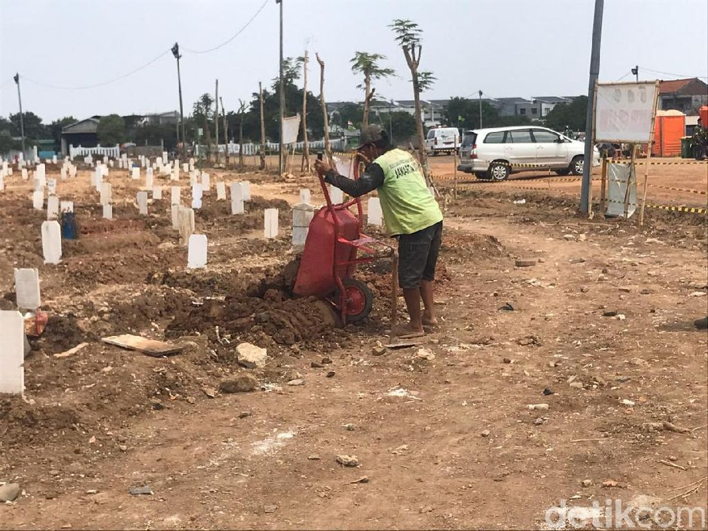 Makam Ambles di TPU Rorotan Jakut Diperbaiki, Begini Kondisinya
