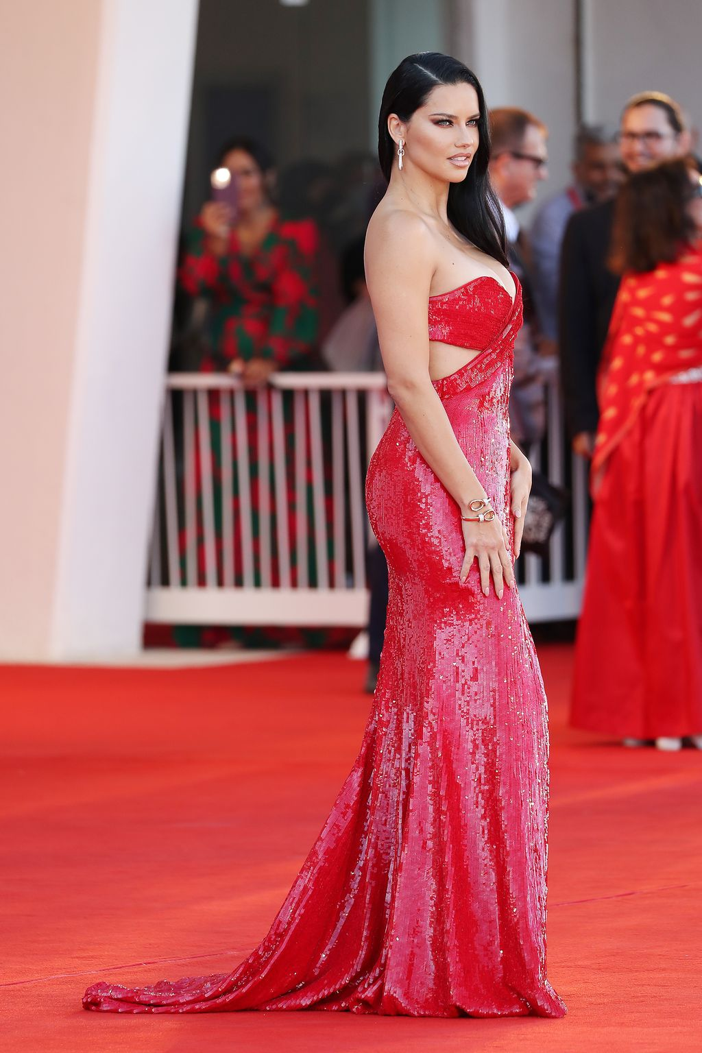 VENICE, ITALY - SEPTEMBER 01: Adriana Lima attends the red carpet of the movie