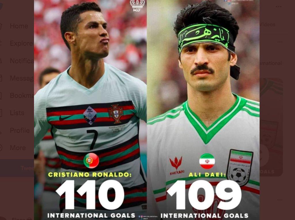 Ronaldo Ukir Rekor 111 Gol, Netizen: Luar Biasa
