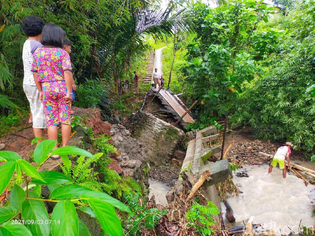 Banjir Terjang Mamasa, Jembatan hingga Puluhan Hektare Lahan Rusak