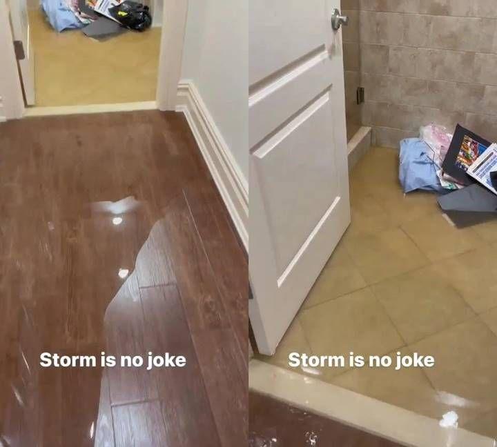 Rumah mewah milik Cardi B terendam banjir akibat badai hebat.