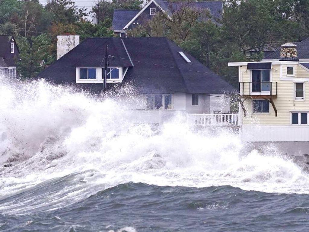 Penampakan Mengerikan Banjir New York dari Luar Angkasa