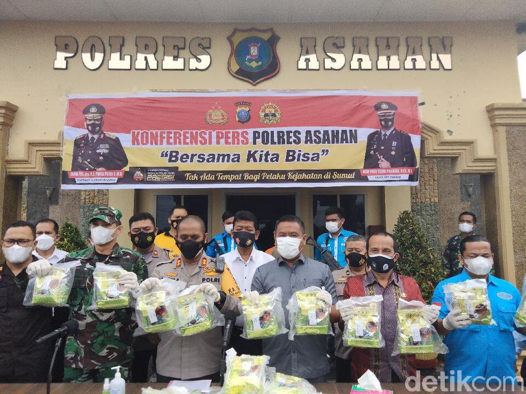 Warga Asahan Sindikat Narkoba dari Malaysia Diciduk, Sabu 28 Kg Disita