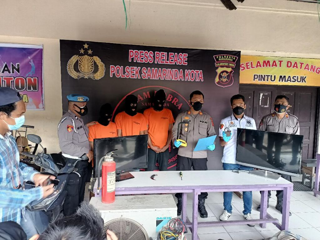 3 Residivis di Samarinda Diciduk Polisi Usai Kembali Mencuri di 13 Lokasi