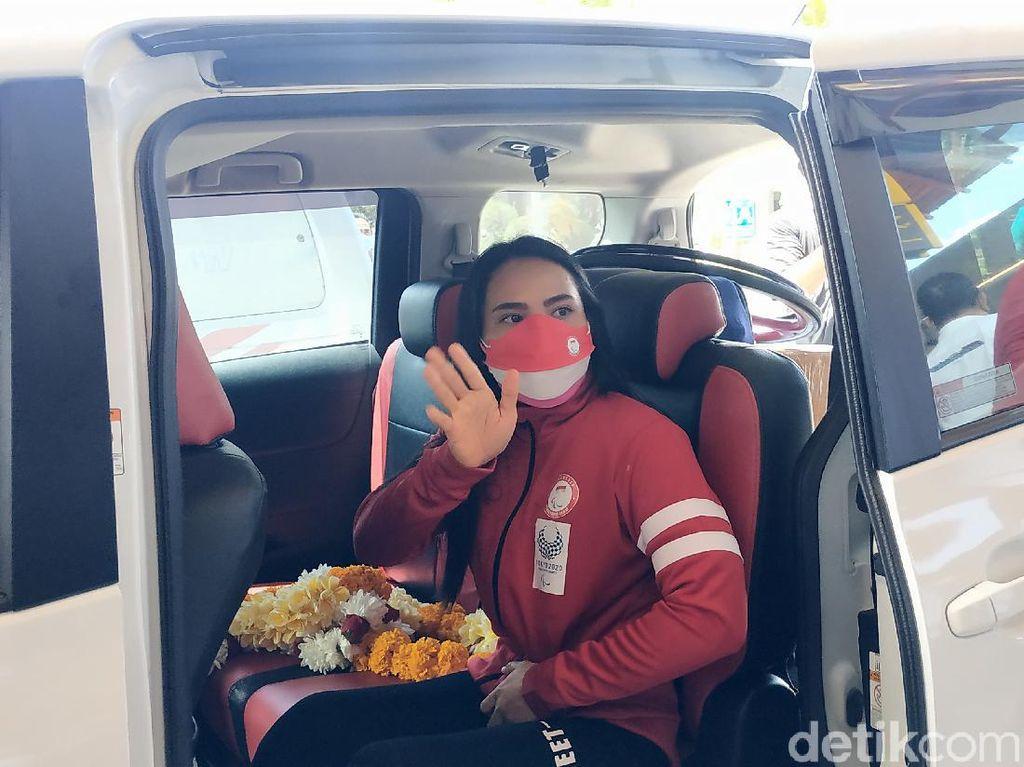 Pulang ke Bali, Atlet Powerlifting Ni Nengah Diganjar Rp 50 Juta