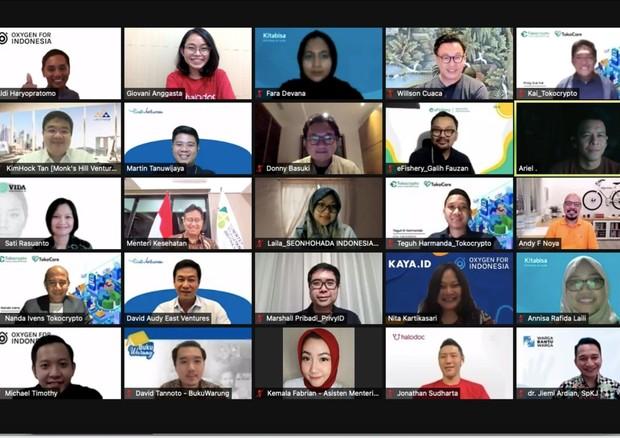 Acara apresiasi dari Menkes yang dihadiri oleh Seonhohada Indonesia Project