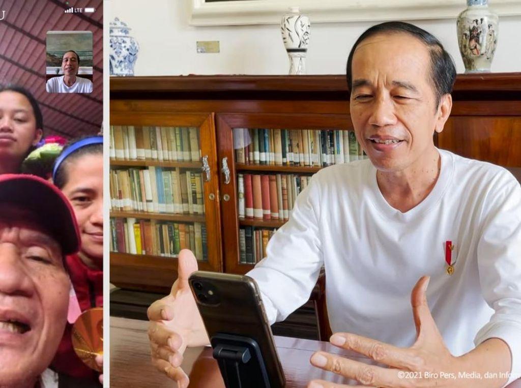 Jokowi Video Call Peraih Medali Emas Paralimpiade: Luar Biasa!