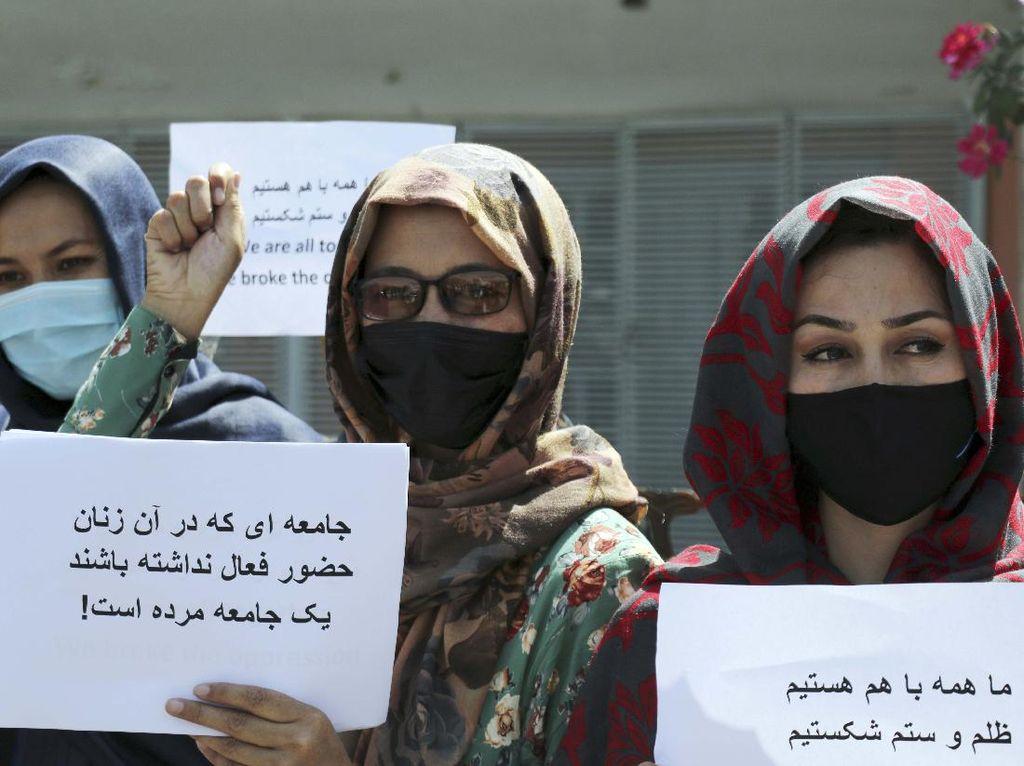 Aksi Demo Perempuan di Afghanistan Menuntut Pemerintah Taliban