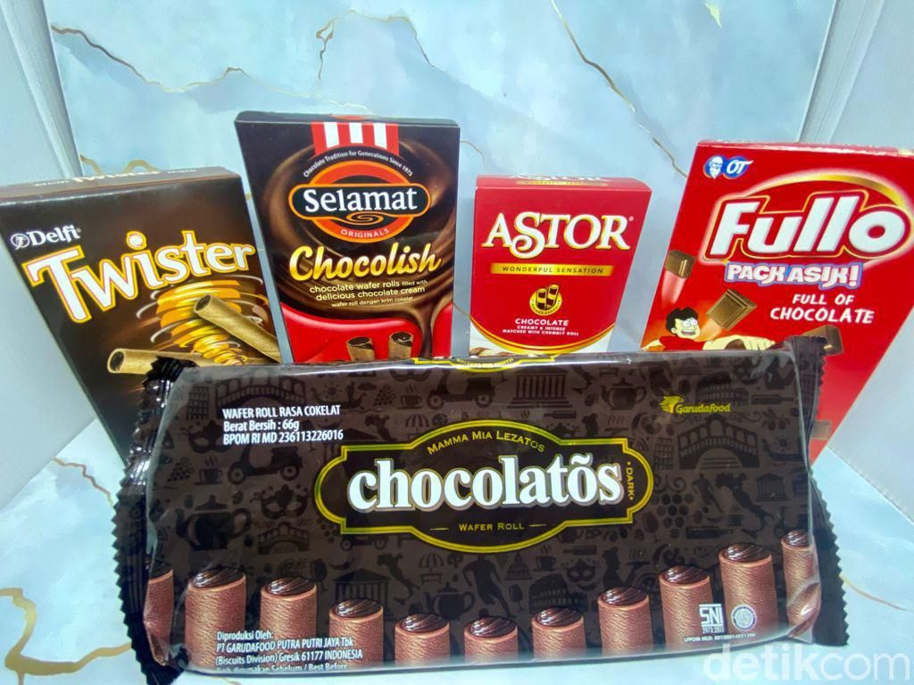 Krenyes Legit! 5 Wafer Roll Cokelat Ini, Mana yang Paling Renyah Enak?