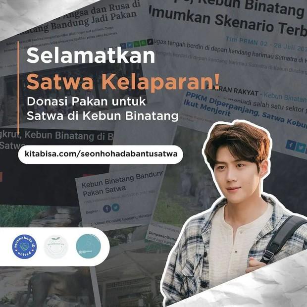 Proyek donasi berikutnya yang dilakukan oleh Seonhohada Indonesia Project