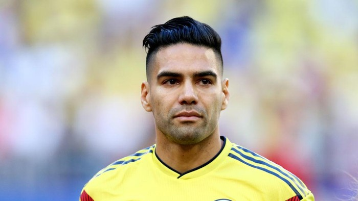 SAMARA, RUSSIA - June 28: Radamel Falcao Garcia of Colombia before the 2018 FIFA World Cup Russia group H match between Senegal and Colombia at Samara Arena on June 28, 2018 in Samara, Russia. (Photo by Maddie Meyer/Getty Images)