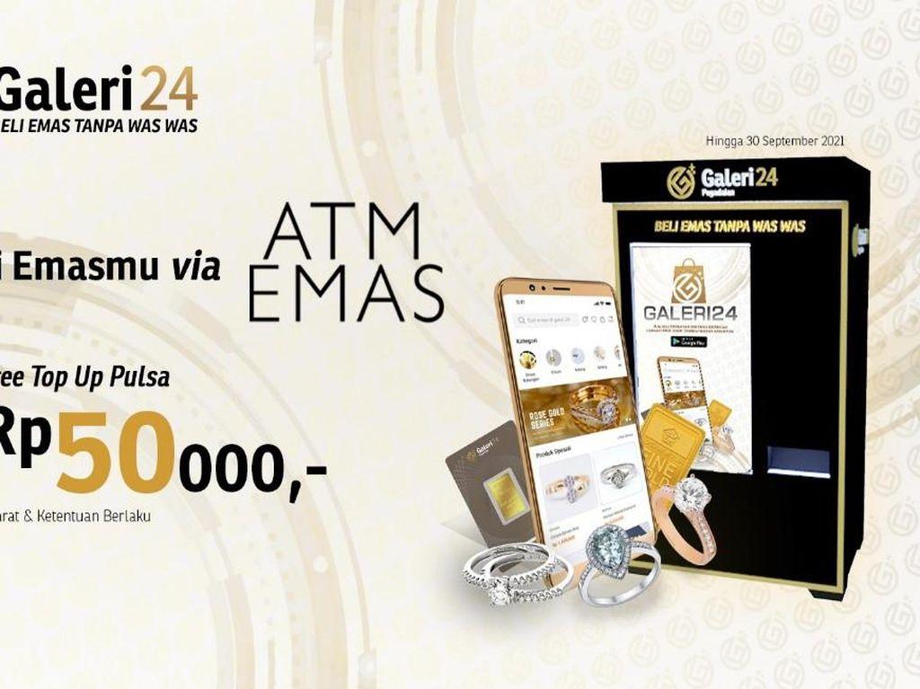 Galeri 24 Hadirkan ATM Emas, Transaksi Praktis Bisa Lewat Smartphone