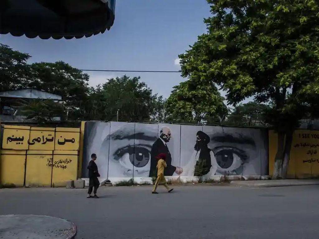 Tak Cuma Indonesia, Mural di Tembok Jalanan Afghanistan Juga Dihapus