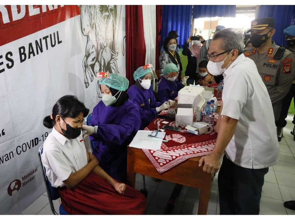 Jelang Sekolah Tatap Muka, Capaian Vaksinasi Pelajar di Bantul Baru 24,15%