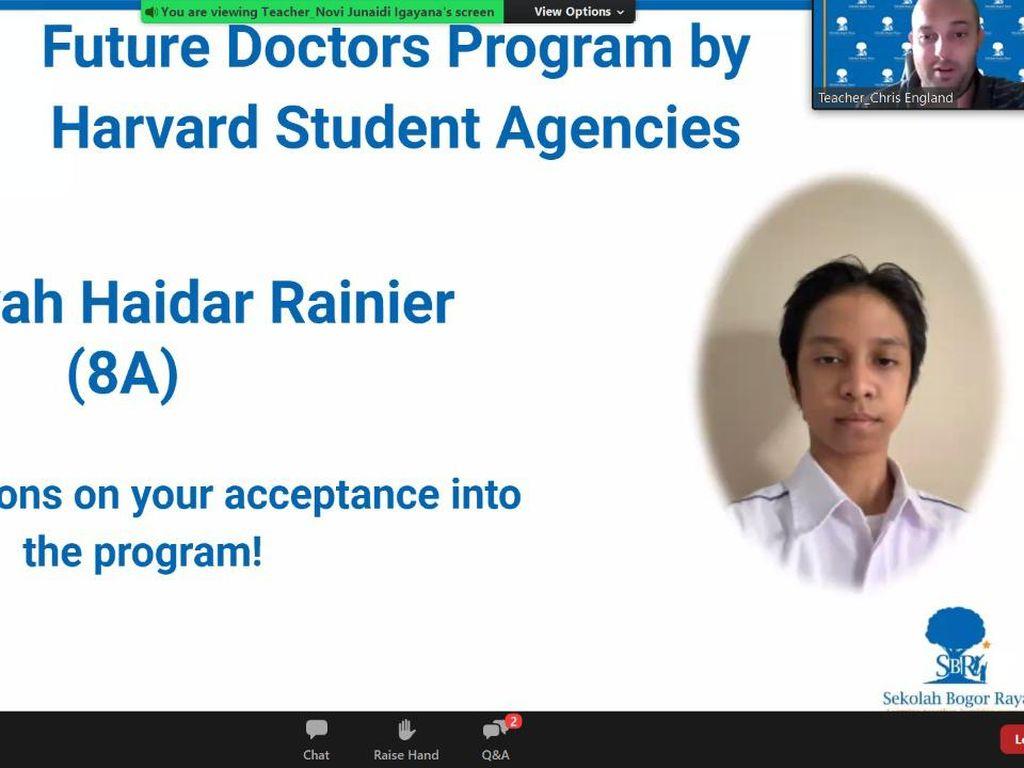 Viral di Medsos, Siswa Bogor Kelas 8 Diterima Belajar Medis di Harvard