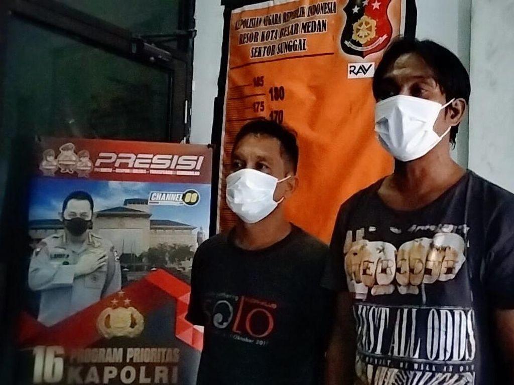 Viral Palak Pedagang Buah di Medan, 2 Preman Ditangkap Polisi